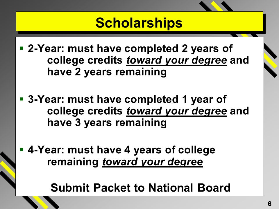 Scholarships Submit Packet to National Board