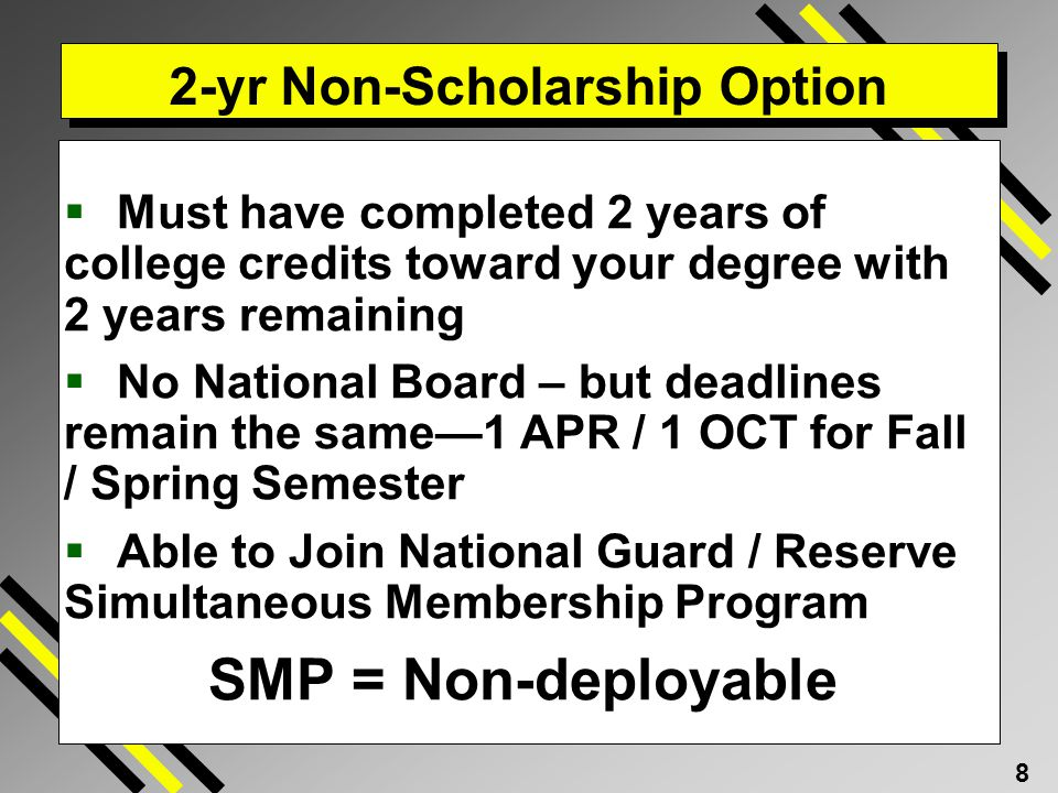 2-yr Non-Scholarship Option