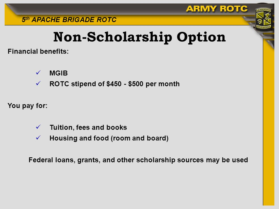 Non-Scholarship Option
