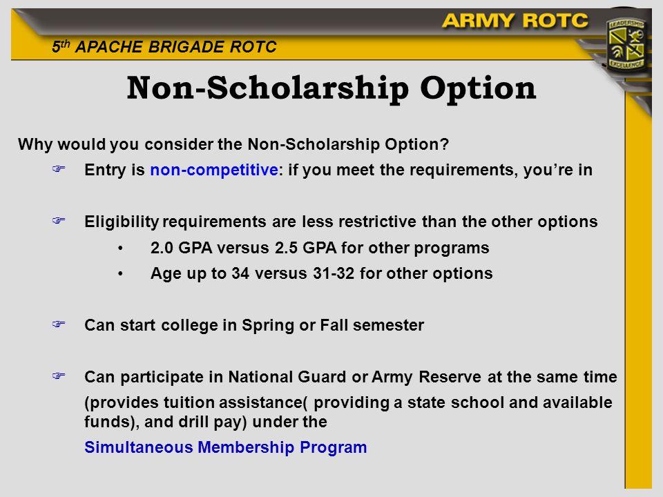 Non-Scholarship Option