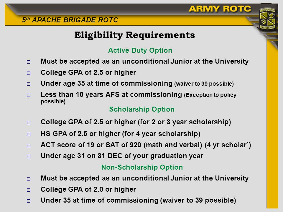 Eligibility Requirements