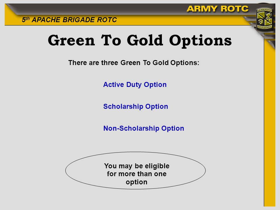 You may be eligible for more than one option