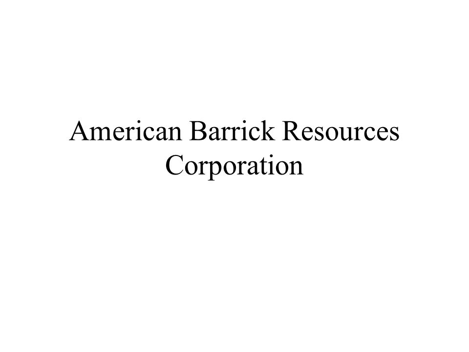 American Barrick Resources Corporation