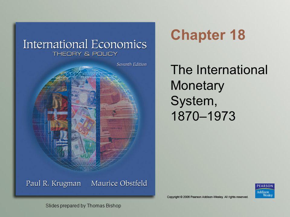 The International Monetary System, 1870–1973