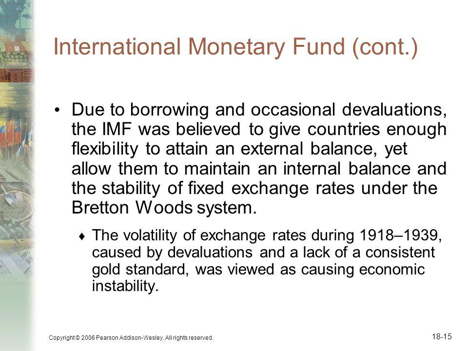 International Monetary Fund (cont.)