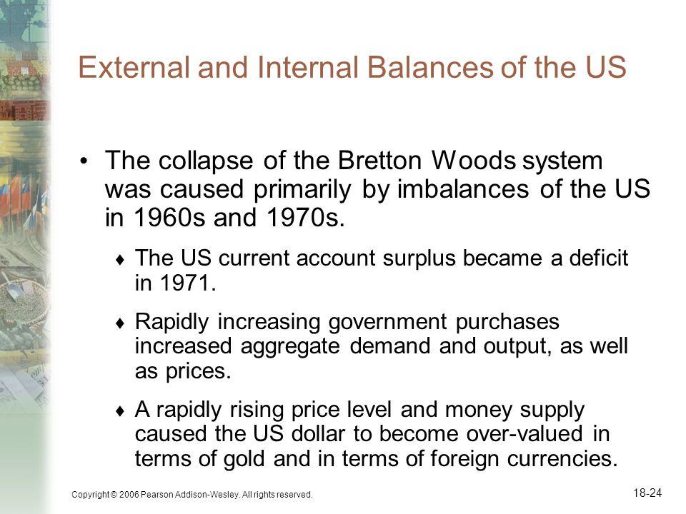 External and Internal Balances of the US