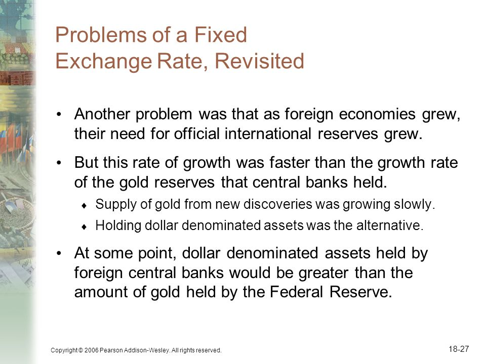 Problems of a Fixed Exchange Rate, Revisited