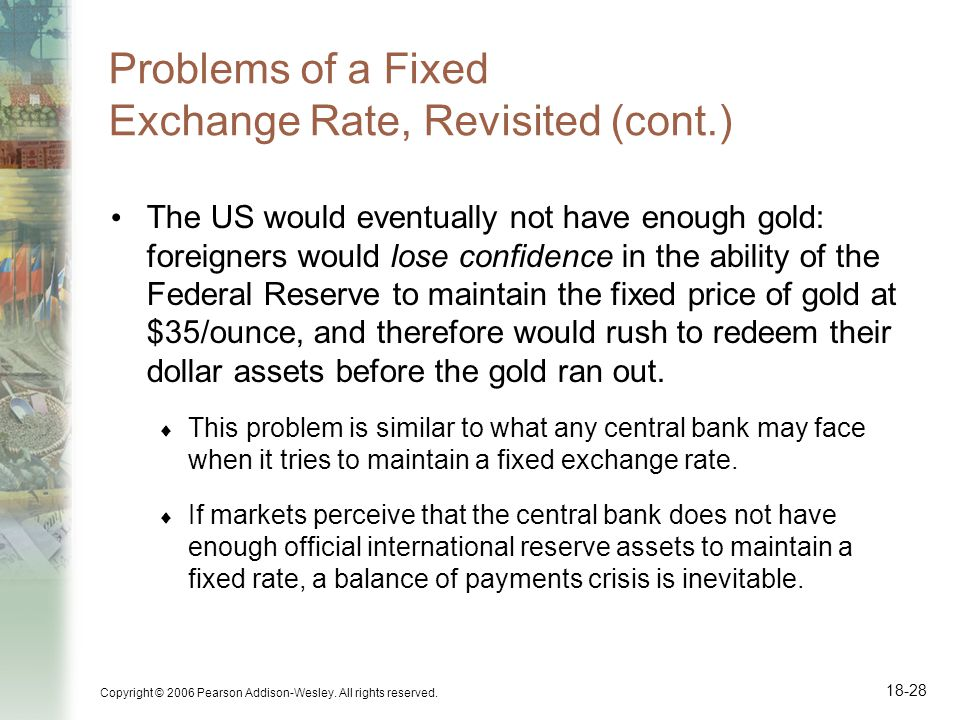 Problems of a Fixed Exchange Rate, Revisited (cont.)
