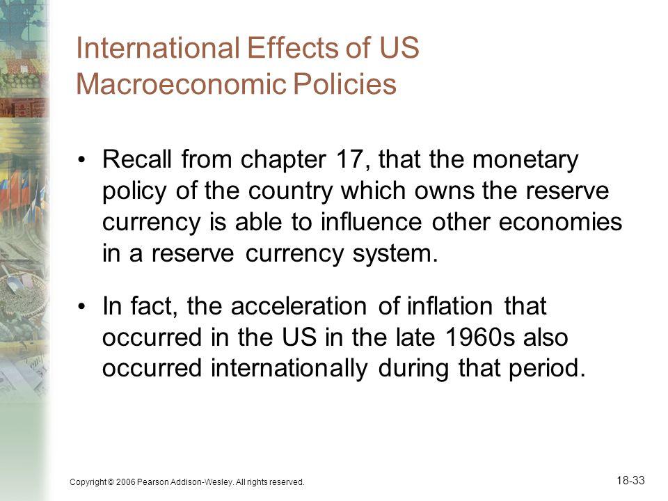International Effects of US Macroeconomic Policies