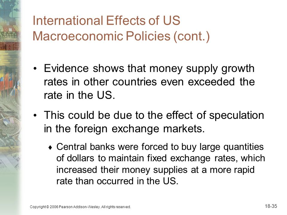 International Effects of US Macroeconomic Policies (cont.)