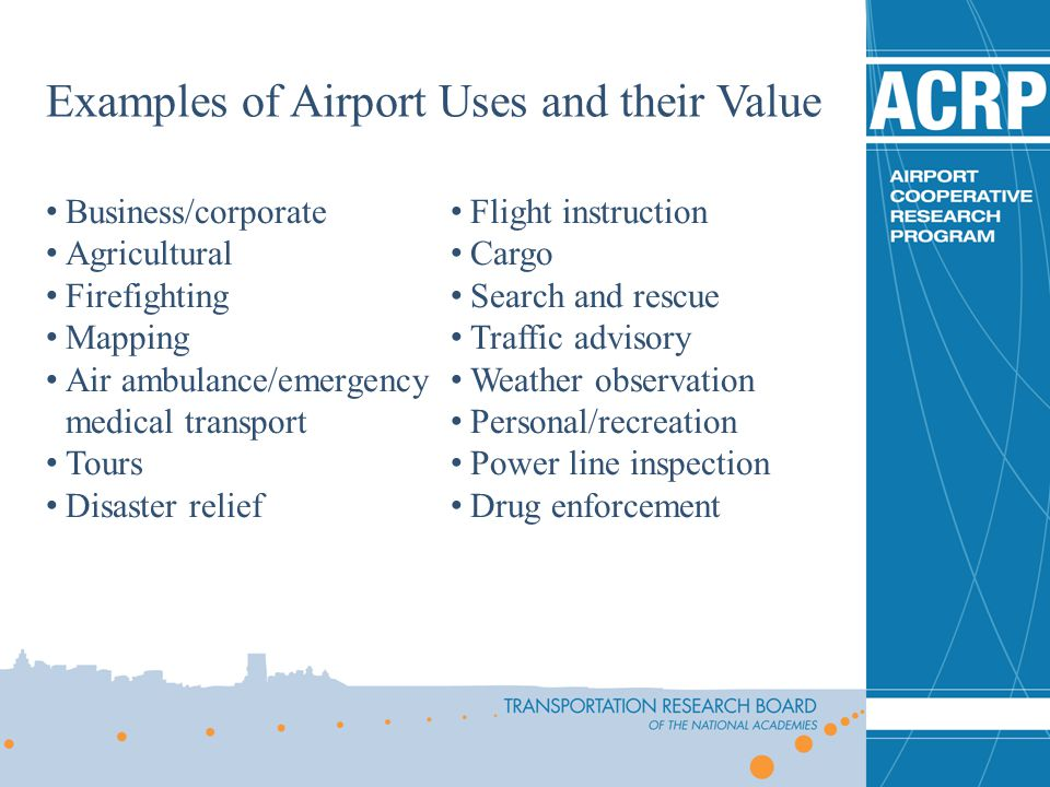 Examples of Airport Uses and their Value