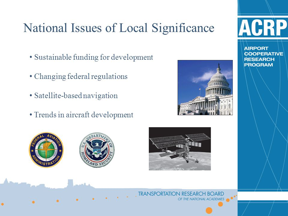 National Issues of Local Significance