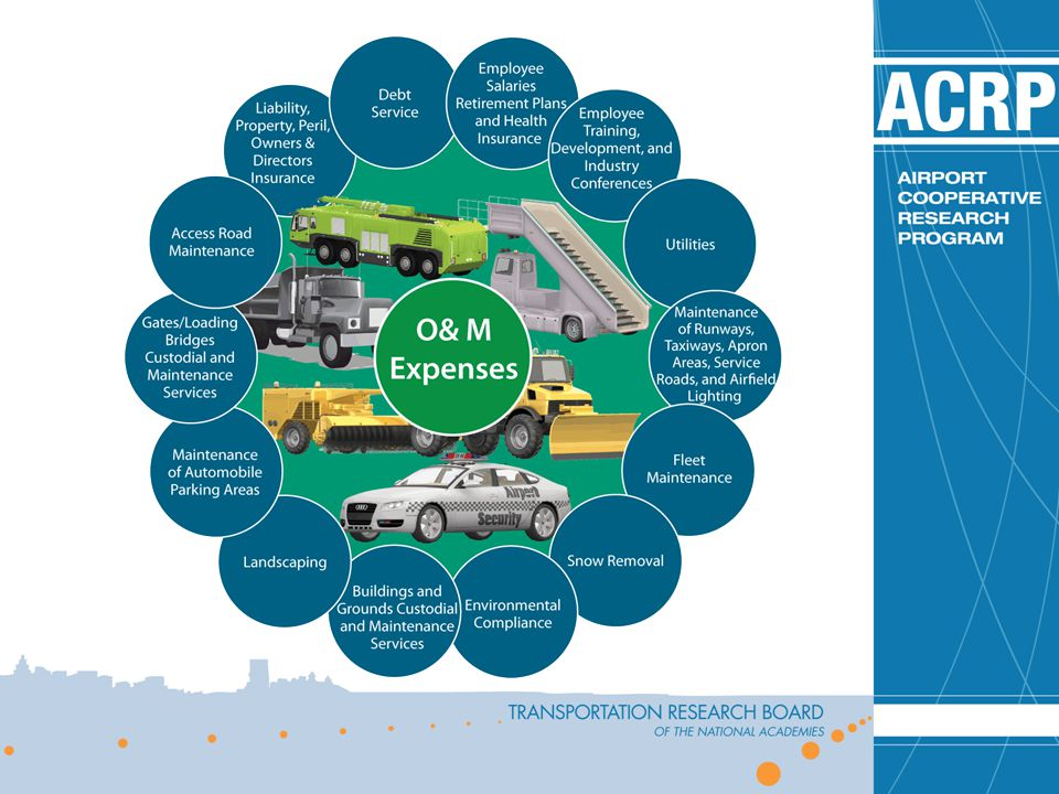 Airport expenses normally fall into two areas: capital improvement expenses and operation and maintenance (O&M) expenses.