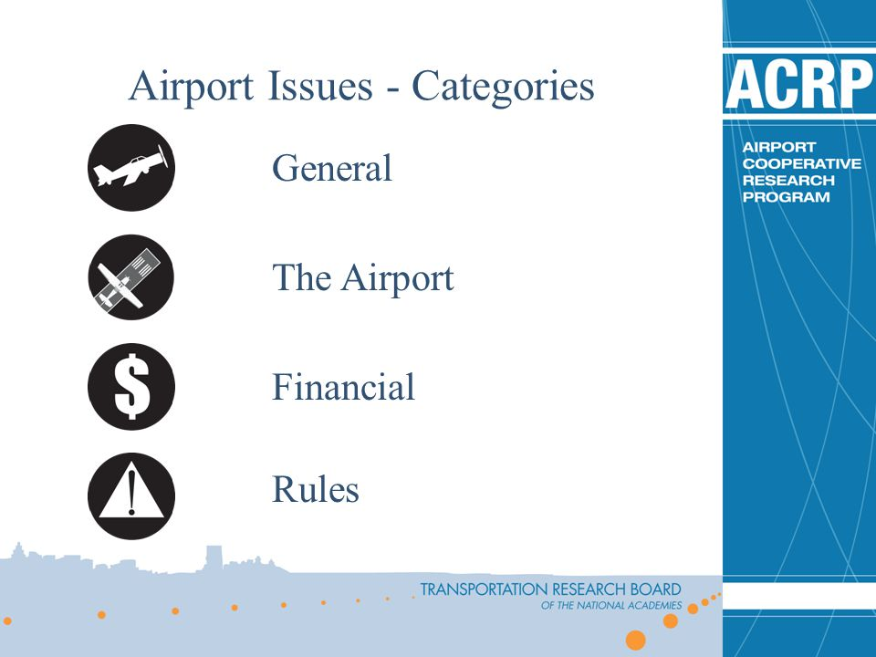 Airport Issues - Categories