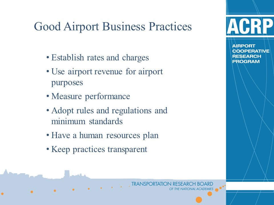 Good Airport Business Practices