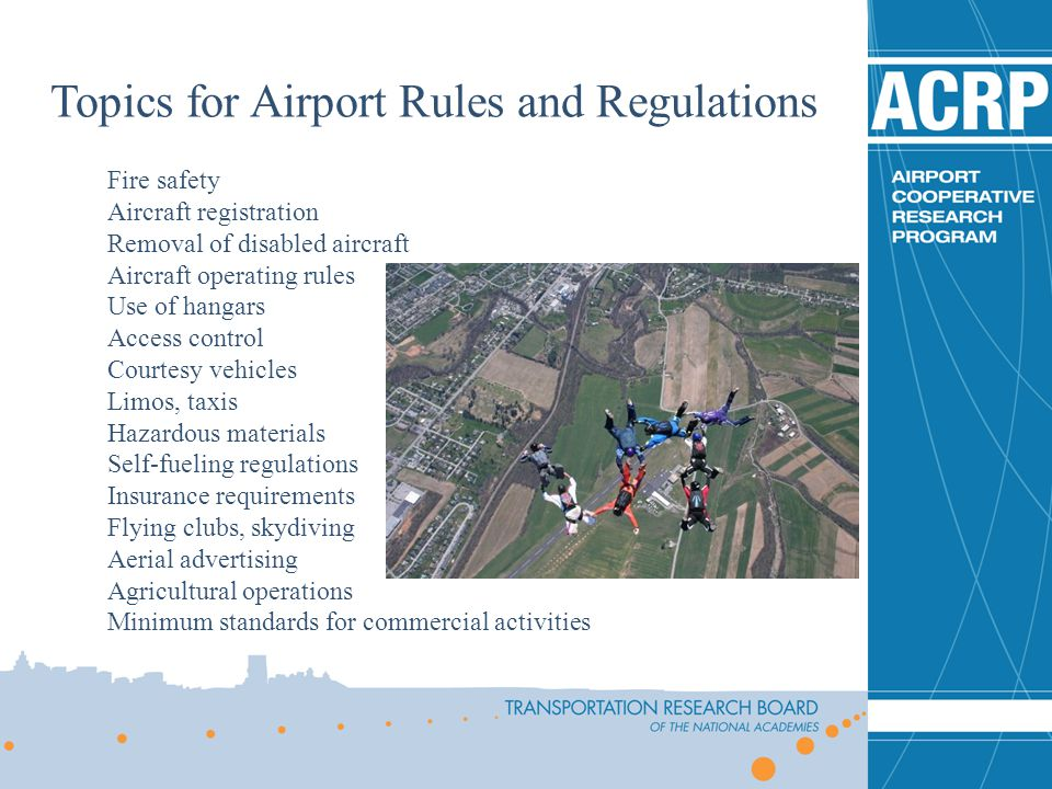 Topics for Airport Rules and Regulations