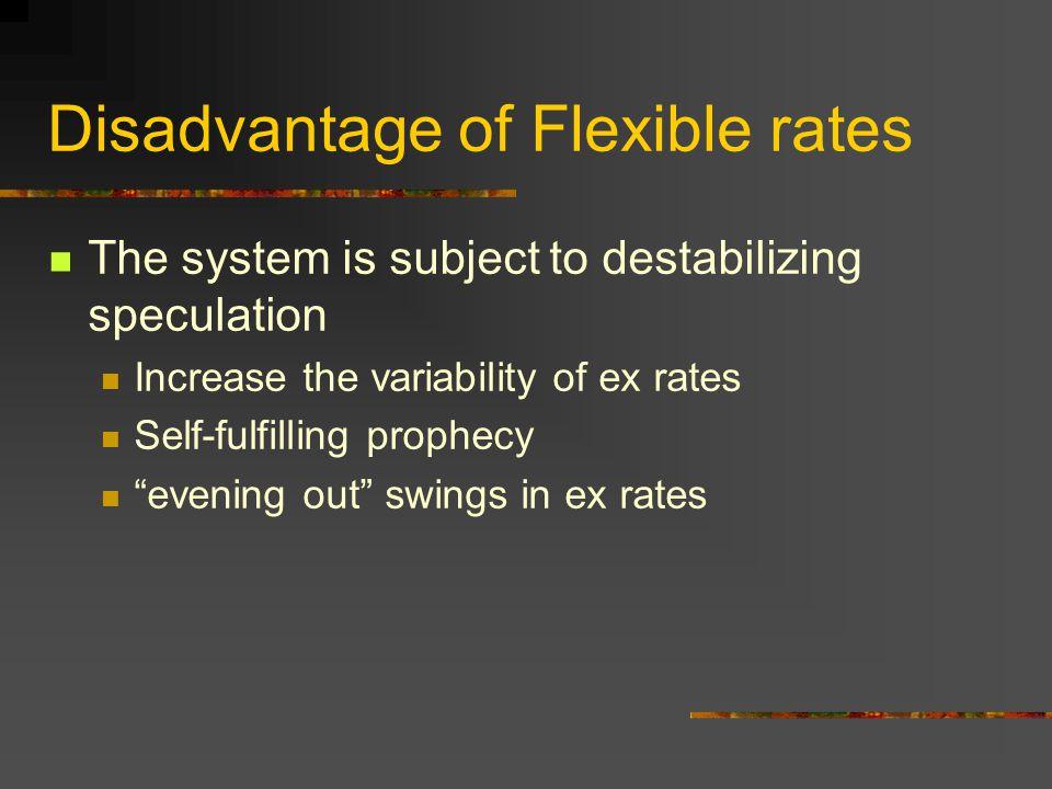 Disadvantage of Flexible rates