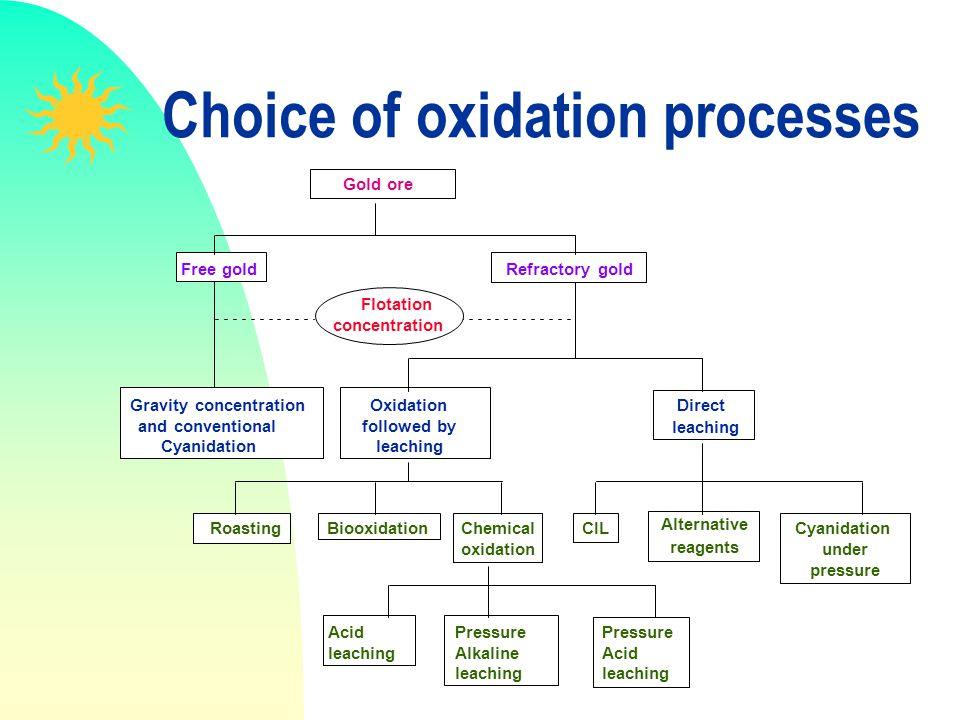Choice of oxidation processes
