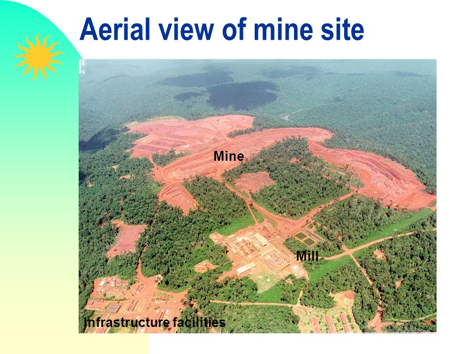 Aerial view of mine site