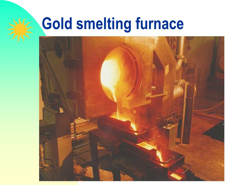 Gold smelting furnace
