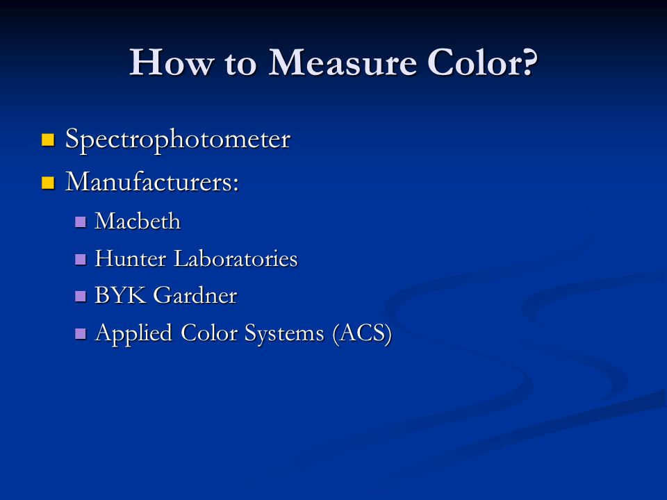 How to Measure Color Spectrophotometer Manufacturers: Macbeth