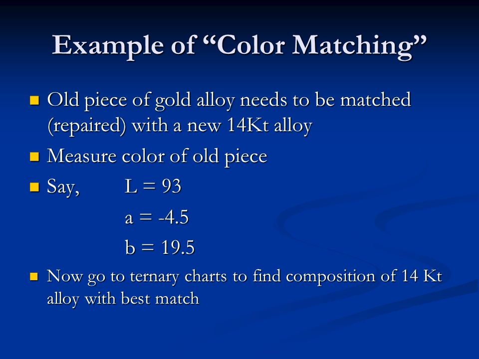 Example of Color Matching