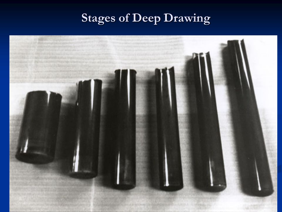 Stages of Deep Drawing