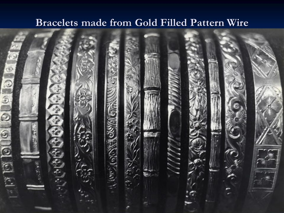 Bracelets made from Gold Filled Pattern Wire
