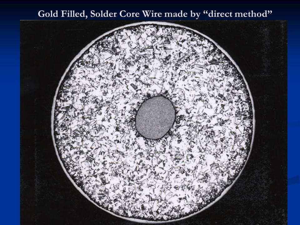 Gold Filled, Solder Core Wire made by direct method