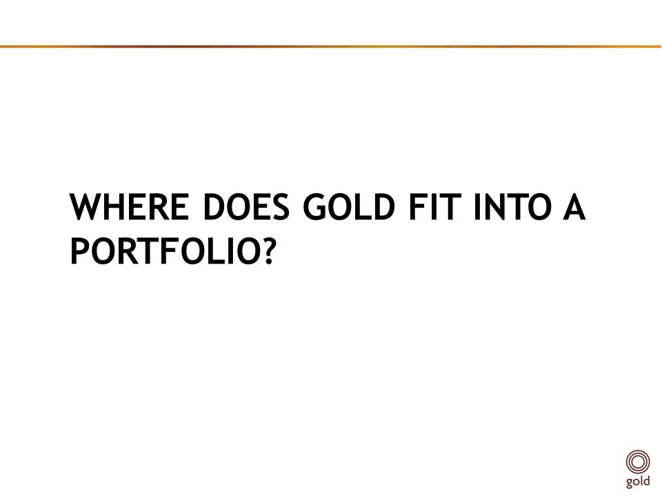 where does gold fit into a portfolio