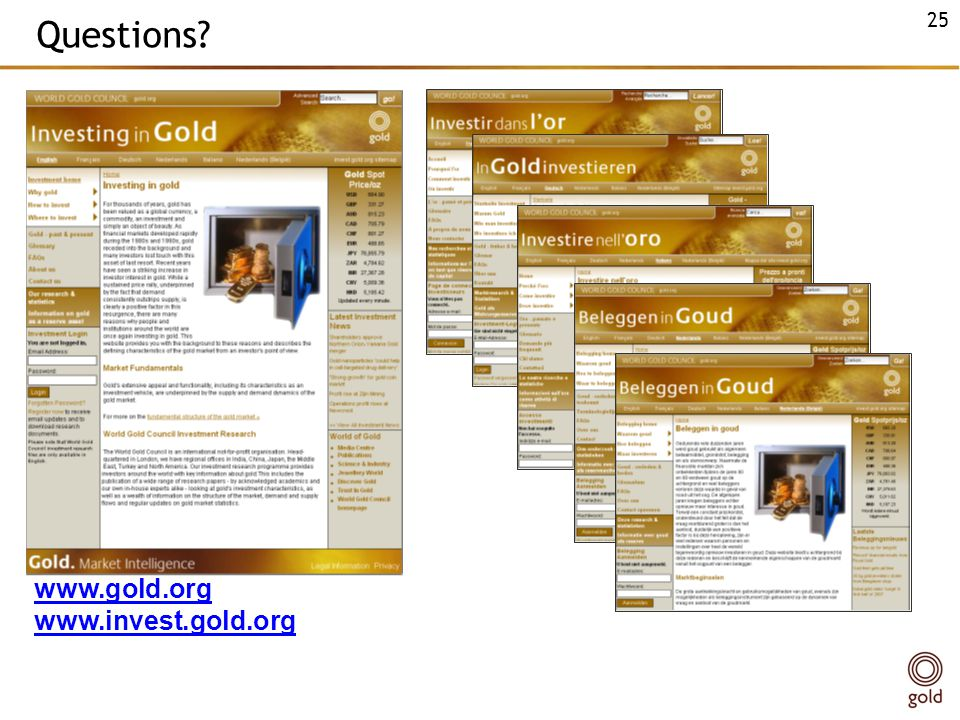 Questions www.gold.org www.invest.gold.org