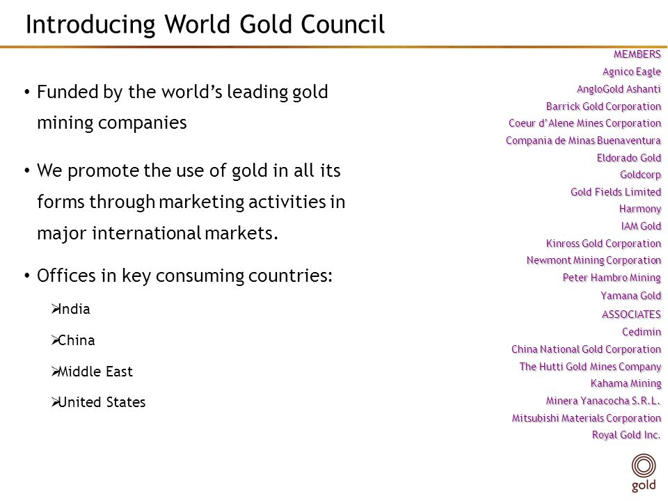 Introducing World Gold Council