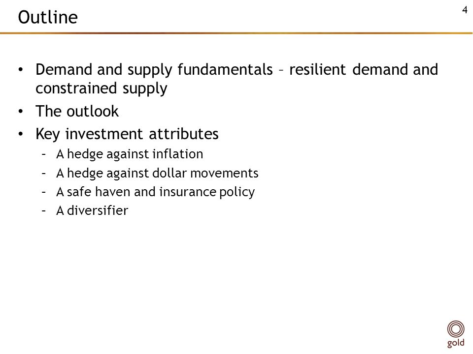 Outline Demand and supply fundamentals – resilient demand and constrained supply. The outlook. Key investment attributes.