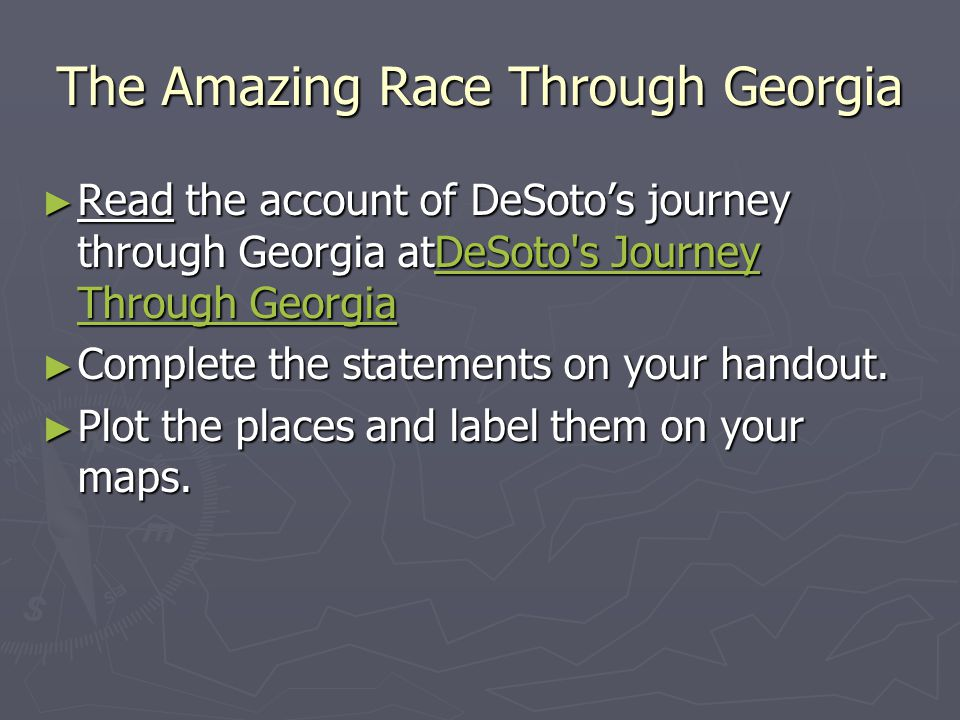 The Amazing Race Through Georgia