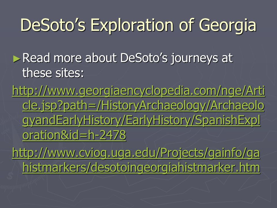 DeSoto's Exploration of Georgia
