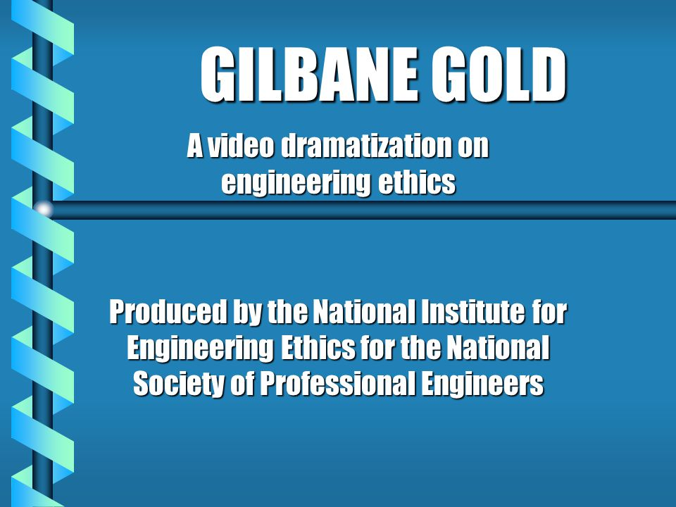 A video dramatization on engineering ethics