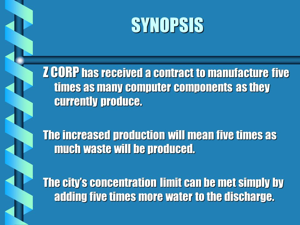 SYNOPSIS Z CORP has received a contract to manufacture five times as many computer components as they currently produce.