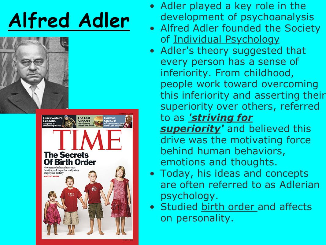 Adler played a key role in the development of psychoanalysis