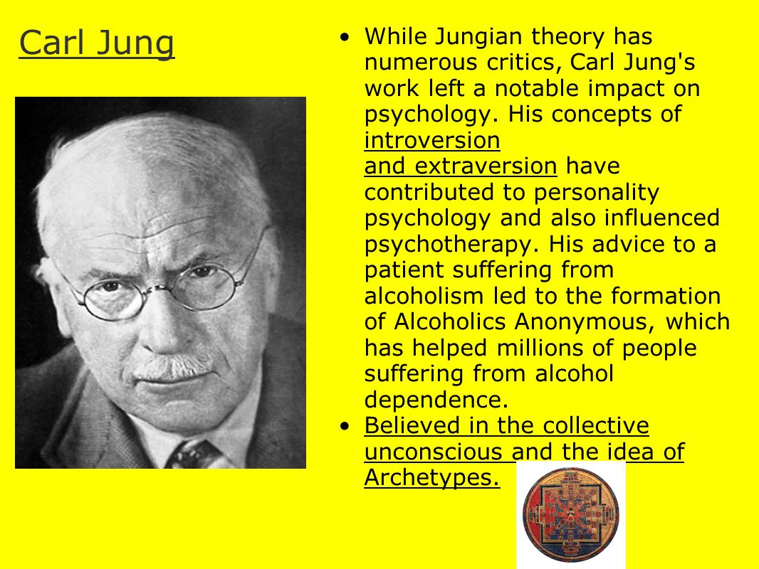 archetypes and their influence on the personality carl gustav jung essay Read this essay on archetypes [ 5 ] carl gustav jung, the archetypes and the collective the influence of interactive archetypes on distributed e-voting.