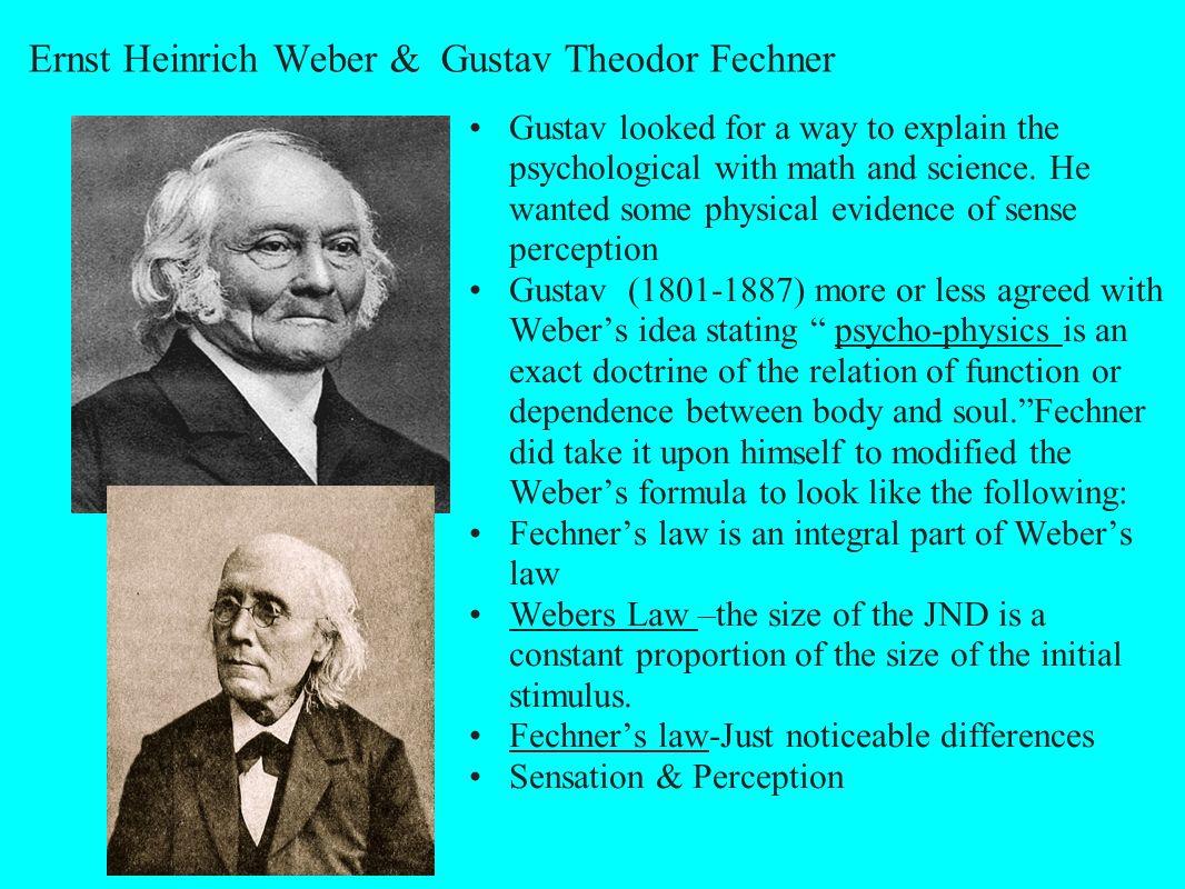 Ernst Heinrich Weber & Gustav Theodor Fechner