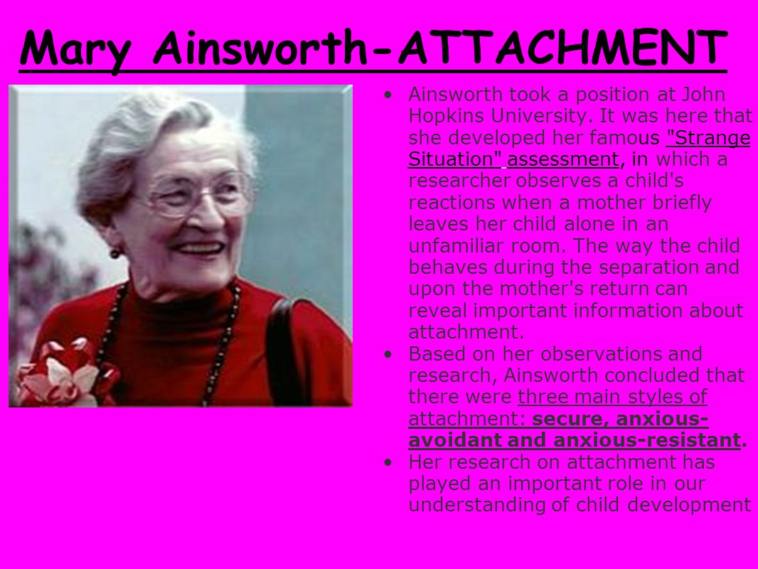 Mary Ainsworth-ATTACHMENT