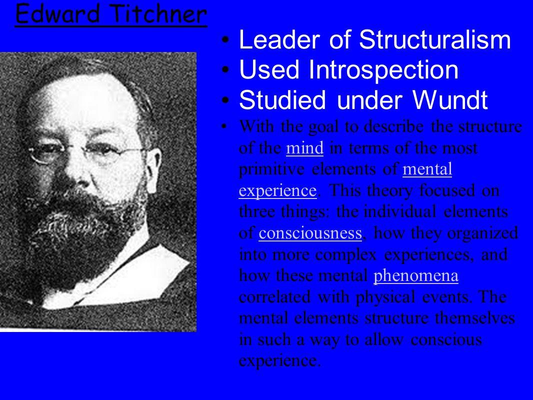 Leader of Structuralism Used Introspection Studied under Wundt