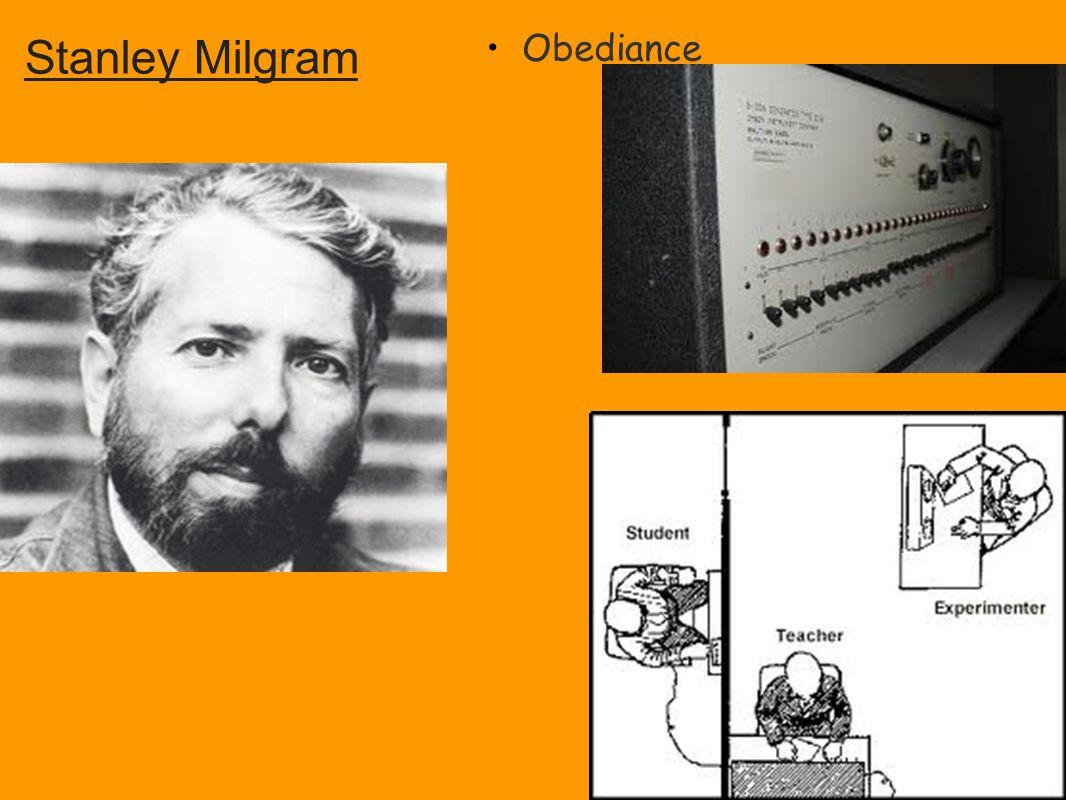 Obediance Stanley Milgram
