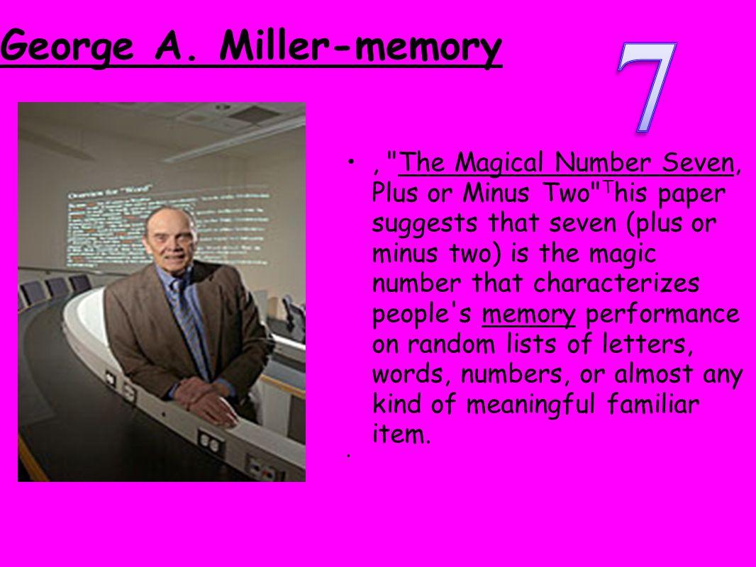 George A. Miller-memory