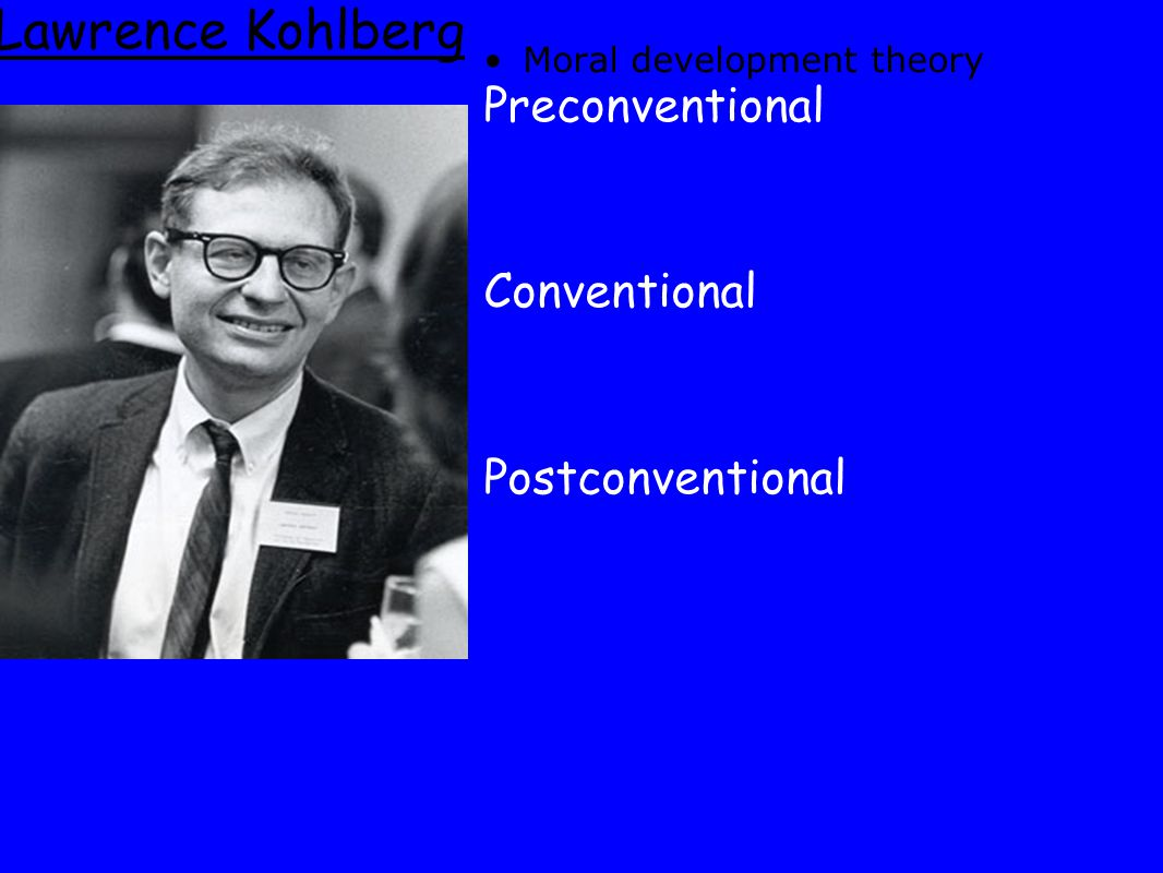 Lawrence Kohlberg Preconventional Conventional Postconventional