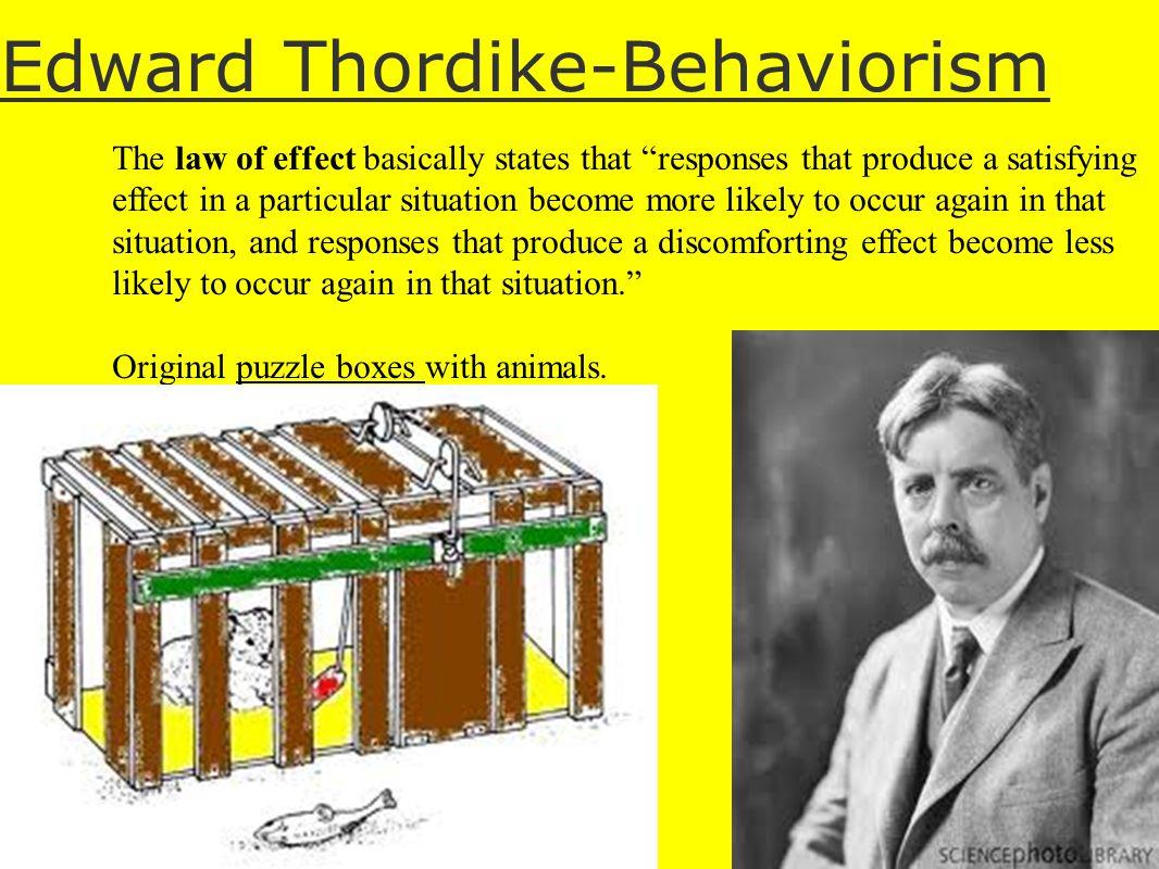 Edward Thordike-Behaviorism