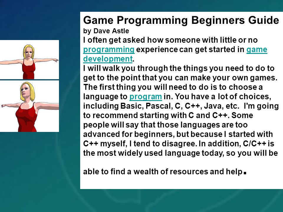 Game Programming Beginners Guide by Dave Astle