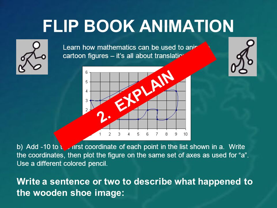 FLIP BOOK ANIMATION 2. EXPLAIN