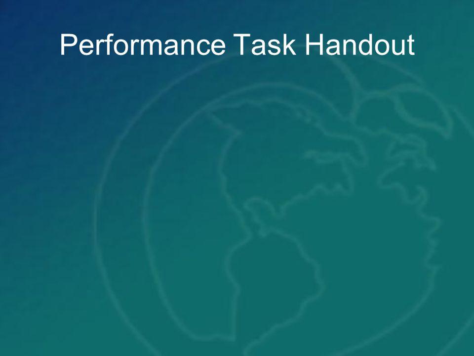 Performance Task Handout