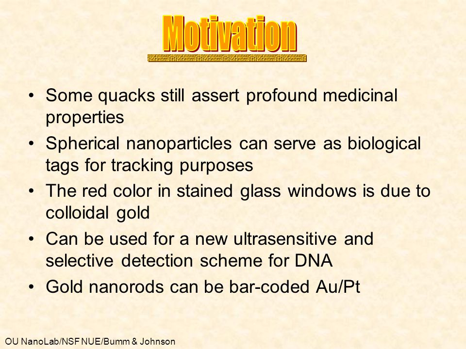 Motivation Some quacks still assert profound medicinal properties